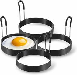 Eggs Rings, 4 Pack Stainless Steel Egg Cooking Rings, Pancak