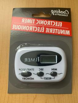 Cooking Concepts Electronic Timer * White / Black * NEW  Kit