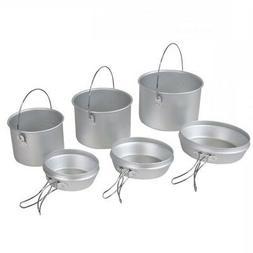 Elemental 6 Piece Aluminium Cook Pot and Pan Set