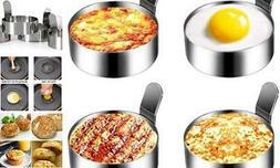 Emoly Stainless Steel Egg Ring, 4 Pack 3 Inch Fried Egg Mold