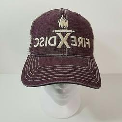 Fire X Disc Mens Snap Back Hat Outdoor Grill Cook Camping Ta