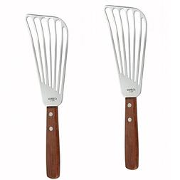 Pack of 2 Fish Spatula With Wooden Handle