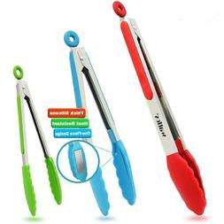 Food Grade 100% Silicone tongs Kitchen utensil Cooking clip