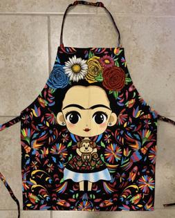 frida kahlo apron for women one size one pocket mandil para