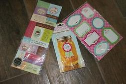 FuN 44 PC Lot Canning Cooking Stickers Hang Tags. Turn Canne