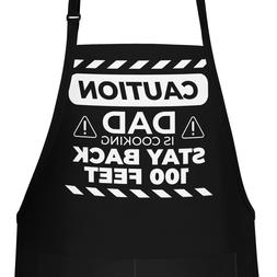 Funny Apron Gift for Dad, Caution Dad Is Cooking Apron - Fat