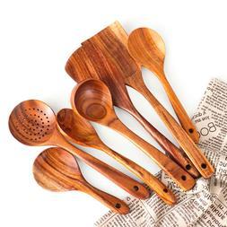 Gadgets Dinnerware Cooking Scoop Wood Tableware Soup Spoon B