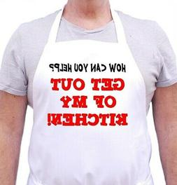 Get Out Of My Kitchen Cute Apron For Men or Women, White Bib