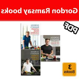 Gordon Ramsay 3 Books ✅ Set Ultimate Fit Food ✅ Home Coo