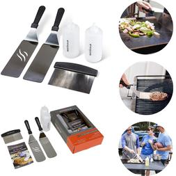 Griddle Accessories Tool Kit Flat Top BBQ Grill Cook Set Spa