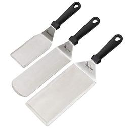Professional Griddle Spatula Set - Stainless Steel Metal Spa