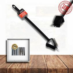 Grill Brush and Scraper 3-in-1, Extra Safe&Strong BBQ Cleane
