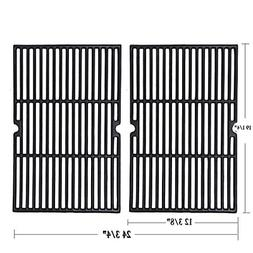 Grill Grate 2 Pack Porcelain Coated Cast Iron Cooking Grid 1