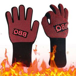 1/2pc Heat Resistant Silicone BBQ Gloves Heat Cooking Grilli