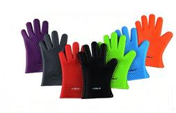 Heat Resistant Silicone Glove Kitchen BBQ Oven Cooking Mits