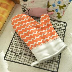 Heat Resistant Thick Silicone Gloves Cooking Baking Oven Glo