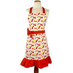 IMUSA Green Yellow Red Peppers Apron Cute Kitchen Cook Gift