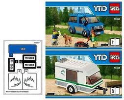 *INSTRUCTIONS & STICKERS ONLY* for LEGO CITY Van & Caravan 6