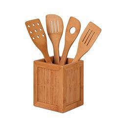 Honey-Can-Do International KCH-01080 Bamboo Utensils and Kit