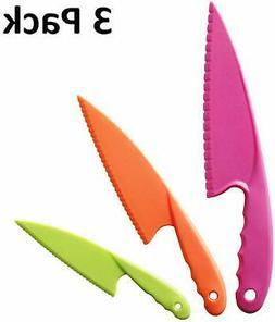 Hombae Kids Kitchen Knife Set 3-Piece Nylon Kids Chef Knife