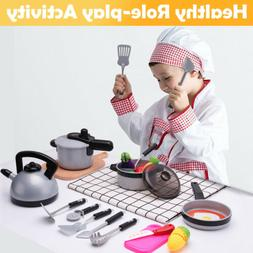 Kids Kitchen Pretend Play Toys,Cooking Set,Pots and Pans,kit
