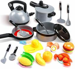 Kitchen Pretend Play Toys for Kids Children Play Cooking Set