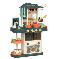 Kids Pretend Kitchen Play Set Toy Food Cooking Toddler Toys