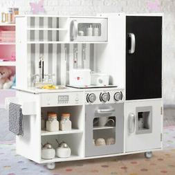 kids wooden kitchen cooking pretend set play