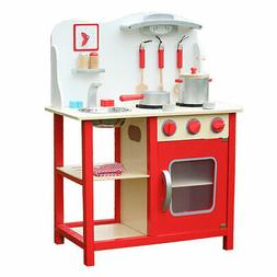 Kids Wooden Wood Childrens Pretend Play Kitchen Cooking Food