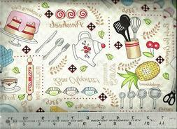 Timeless Treasures ~ Kitchen Baking cooking Supply 100% Cott