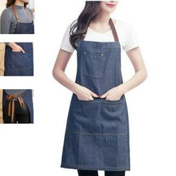 Kitchen Bib Apron Men Women Restaurant Cooking Dress Aprons