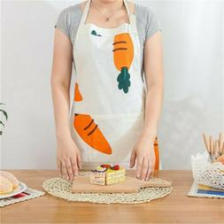 Kitchen Cooking Carrot Pattern Cotton Linen Thick Oil-proof