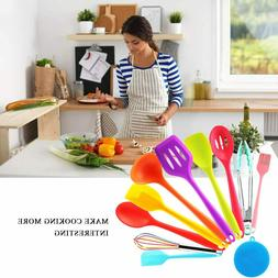 Kitchen Cooking Tools Silicone Utensils Set of 10 Heat Resis