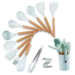 Kitchen Cooking Utensils Set With holder,Silicone Cooking