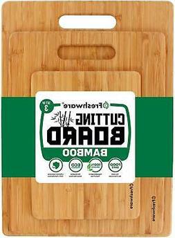 Kitchen Cutting Board Bamboo Wood Set Cooking Small Large Bi