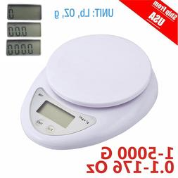 Kitchen Food Scale for Cooking Baking Diets Weigh in Pounds