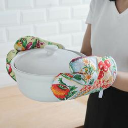 Kitchen Microwave Oven Gloves Pot Pad Cooking Heat Proof Pro
