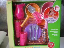 Just Like Home KITCHEN SET DISHES PRETEND PLAY COOKING PINK