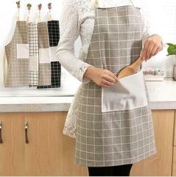 Kitchen thick cotton and linen apron oil and antifouling coo