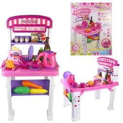 Kitchen Toy Food Cooking Pretend Set For Toddlers Girls Kids