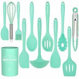 Kitchen Utensil Set - 12 Cooking Utensils Set- Colorful Sili