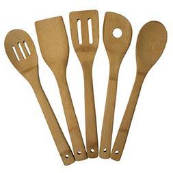 Totally Bamboo 5 Piece Kitchen Utensil Set Cooks Tool