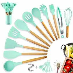 Kitchen Utensil Set Silicone Cooking Utensils Set with holde