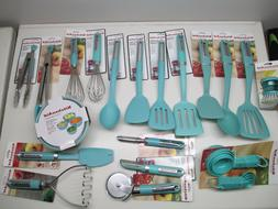 KitchenAid kitchen utensils and towels in aqua sky  each sol