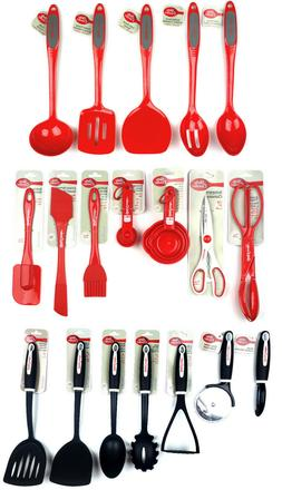 Betty Crocker Kitchen Utensils Red Silicone, Melamine, Rubbe