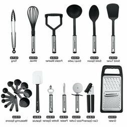 kitchen utensils set 23 piece nylon utinsels