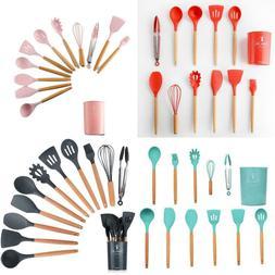 kitchen utensils set beech spatula 11pcs utinsels