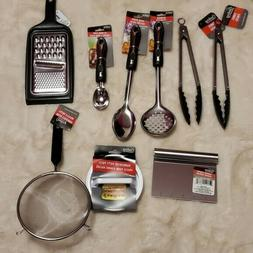 Cooking Concep Kitchen Utensils Set Of 9 Black And Silver
