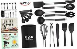 kitchen Utensils Set,ZGO 17-Piece Silicone Cooking Utensils