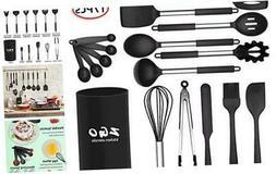 kitchen Utensils Set,ZGO 17-Piece Silicone Cooking Utensils